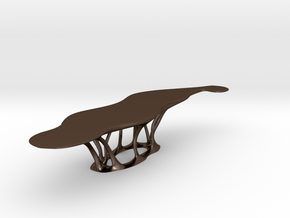 curved table_printed in Polished Bronze Steel: 1:200