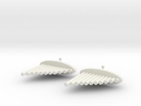 Pai Xiao Earrings in White Natural Versatile Plastic