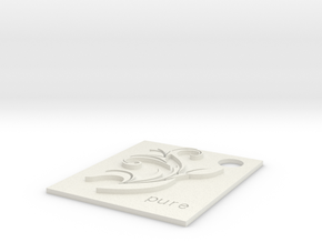 Lily Charm.stl in White Natural Versatile Plastic