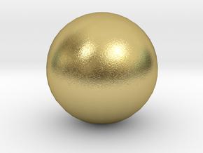 Ball in Natural Brass