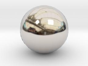 Ball in Rhodium Plated Brass