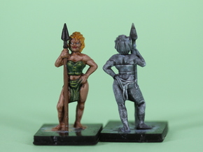 elf_with_spear in Smooth Fine Detail Plastic