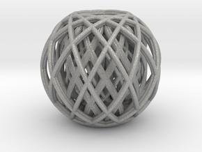 Rotating toruses between two wire frame spheres in Aluminum