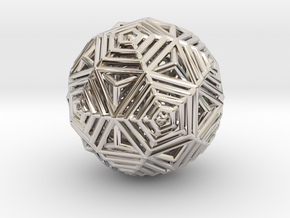 Dodecahedron to Icosahedron Transition in Rhodium Plated Brass