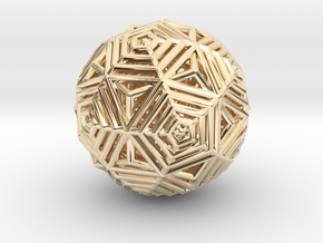 Dodecahedron to Icosahedron Transition in 14k Gold Plated Brass