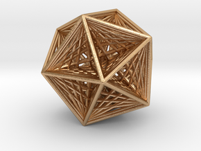 Icosahedron collapsing axis in Natural Bronze