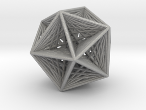 Icosahedron collapsing axis in Aluminum