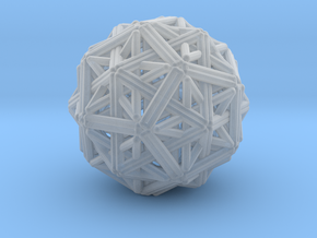 Hedron star Family Version 1 in Smooth Fine Detail Plastic
