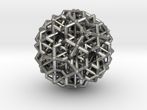 Hedron star Family Version 3 in Natural Silver