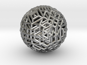 Cube to octahedron transition Version 1 in Natural Silver
