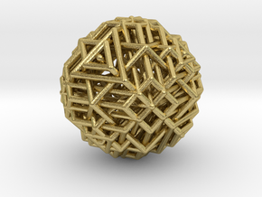 Tetrahedron family arranged together in Natural Brass