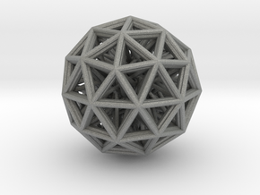 Geometric sphere with connected vertics in Gray Professional Plastic