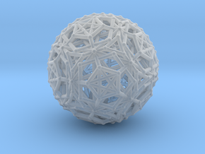 Dodeca & Icosa hedron families forming a sphere in Smooth Fine Detail Plastic