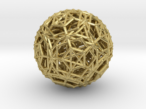 Dodeca & Icosa hedron families forming a sphere in Natural Brass