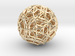 Dodeca & Icosa hedron families forming a sphere in 14k Gold Plated Brass