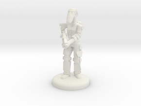 Battle Droid 20mm scale (25mm tall) in White Natural Versatile Plastic