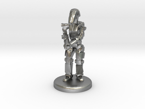 Battle Droid 20mm scale (25mm tall) in Natural Silver