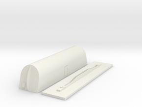 ho borden milk car with frame 2m in White Natural Versatile Plastic
