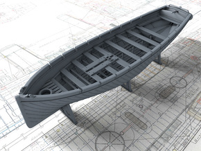 1/144 Royal Navy 42ft Sailing Launch x1 in Smooth Fine Detail Plastic