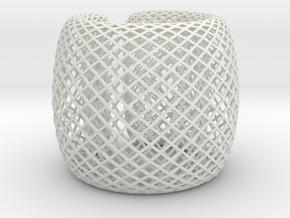 Fish Net Bangle in White Premium Versatile Plastic: Medium