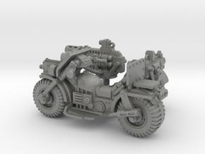 28mm Astro bike + sidecar + guns in Gray Professional Plastic
