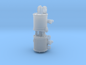 1:16 Scale Westinghouse 9.5'' Air Pump in Smooth Fine Detail Plastic