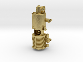 1:16 Scale Westinghouse 9.5'' Air Pump in Natural Brass