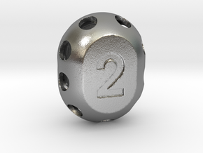 Two-sided 'pepperpot' die in Natural Silver