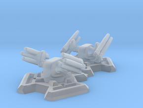 Missile Turret X2 (6mm Scale) in Smooth Fine Detail Plastic