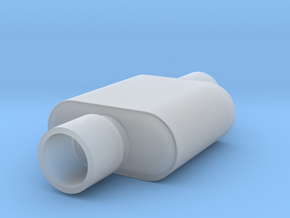 1/24 Scale 1 Chamber Flowmaster Muffler in Smoothest Fine Detail Plastic