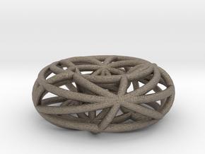 toroidal geodesics small in Matte Bronzed-Silver Steel