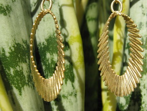 Sinusoidal 5 Earrings in Natural Brass