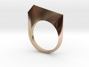 Ridge Ring in 14k Rose Gold Plated Brass: 6 / 51.5