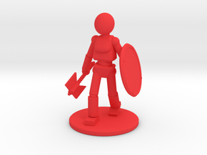 Prototype: Female Axe in Red Processed Versatile Plastic