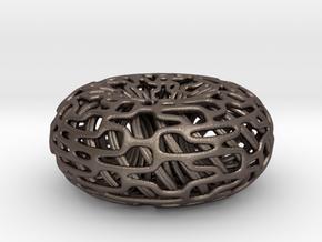 Torus Inside A torus in Polished Bronzed-Silver Steel