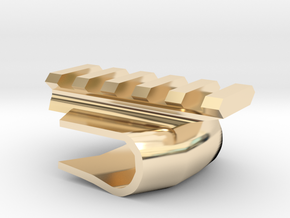 Front-Mounted Picatinny Rail For Skateboards in 14K Yellow Gold