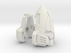 Zombie Combiner Gestalt Head in White Natural Versatile Plastic