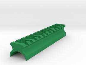 AK Top Cover Picatinny Rail (12 Slots) in Green Processed Versatile Plastic