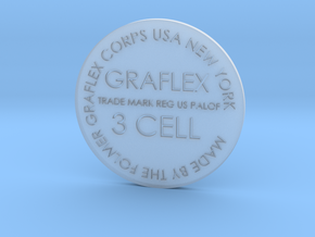 Graflex button 34mm screen accurate in Smooth Fine Detail Plastic