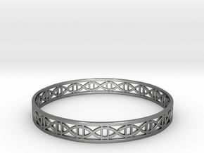 Tangentoidal Crown Curve Bracelet (001) in Fine Detail Polished Silver
