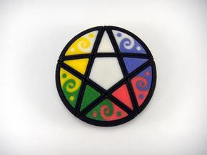 Pentacle Puzzle in White Natural Versatile Plastic