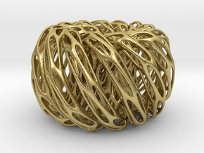Perforated Twisted Double torus in Natural Brass