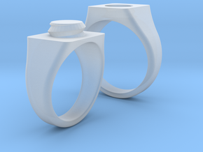 Twisted Sister Rings in Smoothest Fine Detail Plastic