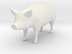 Pig in White Natural Versatile Plastic