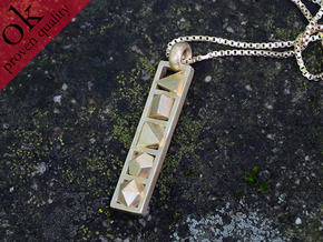 platonic solids pendant in Natural Brass
