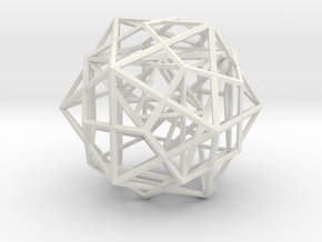 Nested Platonic Solids in White Natural Versatile Plastic