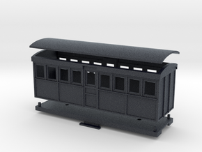 HOn30 20 foot Bogie Tramway Carriage (A) in Black Professional Plastic