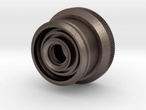 Artoo De Ago's 1:2.3 restraining bolt, open, flat  in Polished Bronzed Silver Steel
