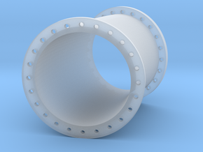 Rohrleitung 1000mm 22,5Grad R3000 - TT 1:120 in Smooth Fine Detail Plastic