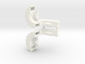 Ultra Magnus Arm Wheels (Shallow Version) in White Processed Versatile Plastic